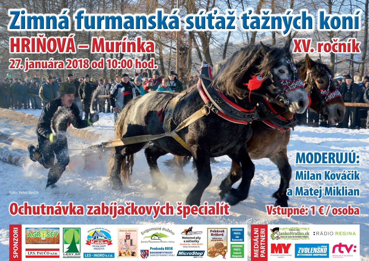 Zimná furmanská súťaž ťažných koní XV. ročník 1