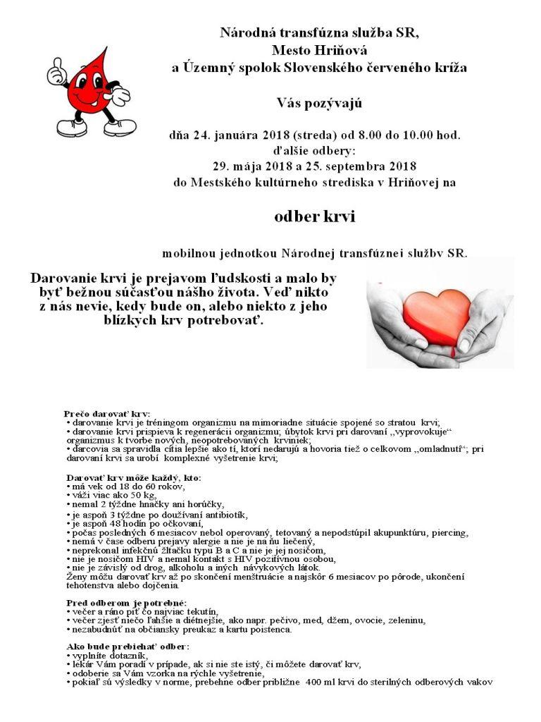 Odber krvi mobilnou jednotkou 1
