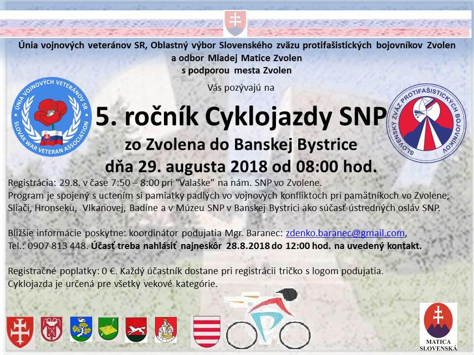 Cyklojazda a pochod SNP 1