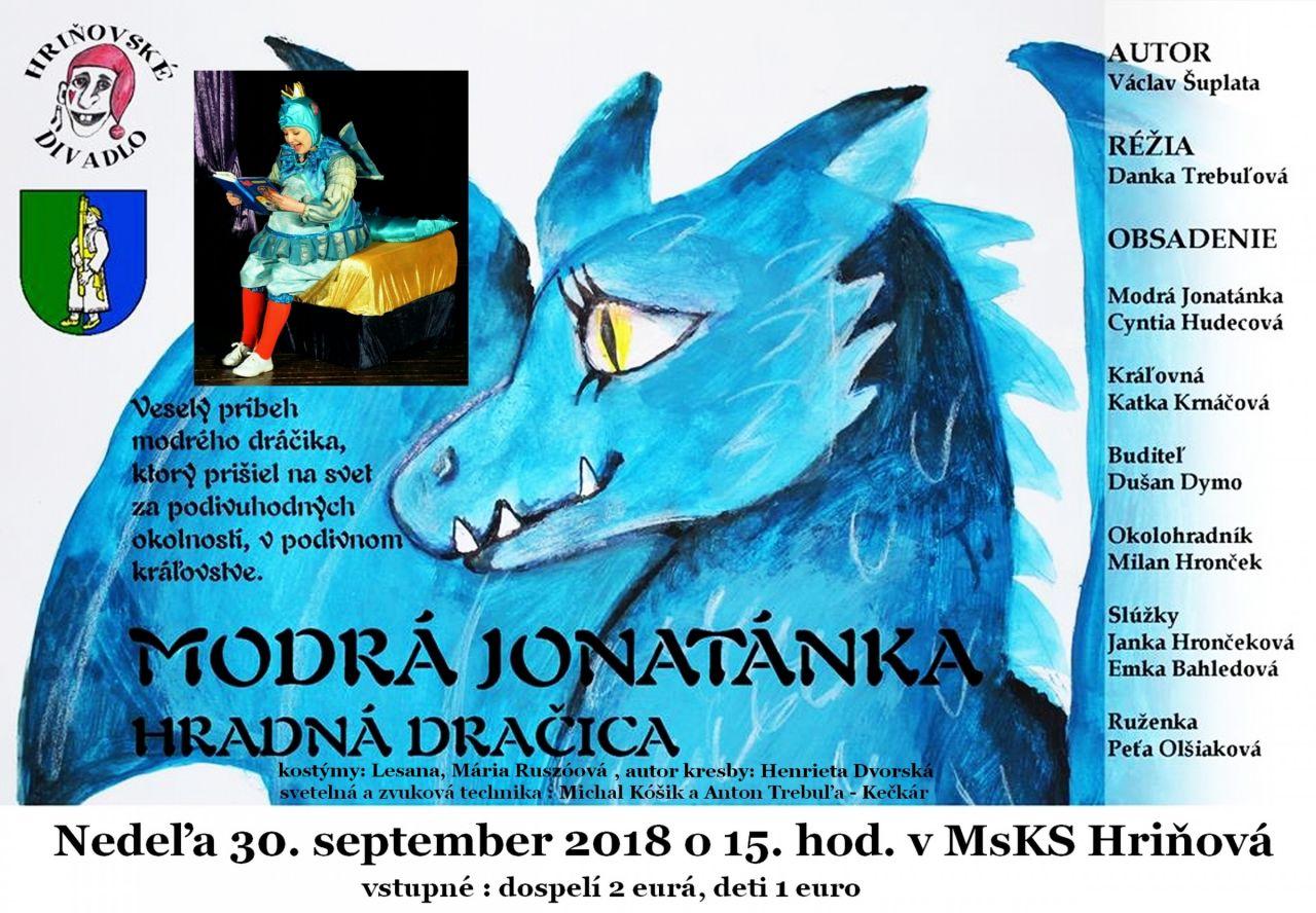 Modrá Jonatánka - Hradná dračica 1